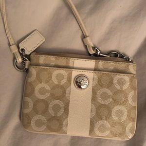 Coach zippered pouch